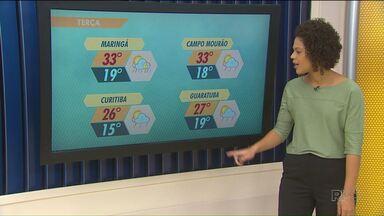 Temperatura pode chegar a 33 graus nessa terça em Maringá - Também tem previsão de pancadas de chuva para a região de Maringá.