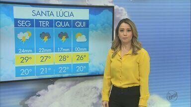 Confira a previsão do tempo desta segunda-feira (20) em São Carlos e região - Confira a previsão do tempo desta segunda-feira (20) em São Carlos e região.