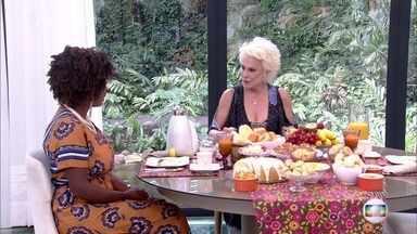 Ana Maria entra na campanha de Lilian para apresentar o 'boy magia' aos pais dela - Apresentadora recebe a participante do 'Jogo de Panelas' na Casa de Cristal