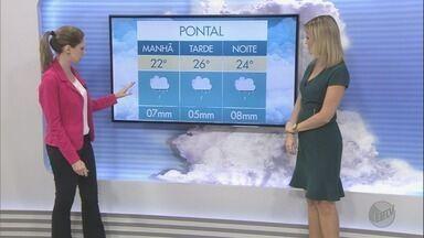 Confira a previsão do tempo para esta terça-feira (21) na região de Ribeirão Preto - Pode haver chuva forte ao longo do dia.