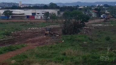 Após denúncia no JA1, prefeitura limpa área no Parque Oeste Industrial em Goiânia - Telespectador enviou foto pelos canais de comunicação da TV Anhanguera.