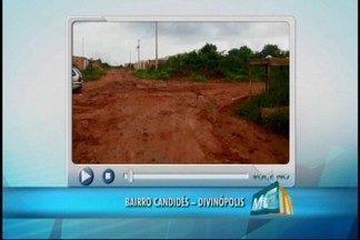 Telespectador do MGTV de Divinópolis faz denúncia de problema na Rua Manajuara - Morador do Bairro Candides registrou imagens em vídeo.