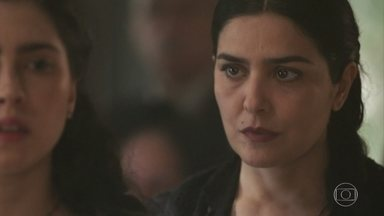Delfina questiona conversa de Tereza com Fernão - Padre João conta a Moniz que Guiomar foi procurar Fernão no moinho antes de falecer