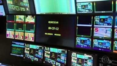 À meia noite desta quarta-feira (22) vai ser desligado o sinal analógico no Rio de Janeiro - A sala de exibição da TV Globo é o local onde, à meia noite em ponto, será desligado o sinal analógico.