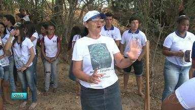 Escola de Major Izidoro faz gincana com objetivo de ajudar o meio ambiente - A tarefa dos alunos e professores é de recuperar a mata ciliar nas margens do Rio Ipanema, que é fiundamental para a sobrevivência de muitos moradores da cidade.