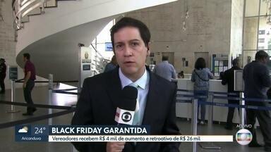 Tribunal de Justiça libera aumento de 26% no salário dos vereadores - O caso estava sendo discutido desde o ano passado, quando a ordem dos advogados do brasil entrou com uma ação na Justiça, alegando que esse aumento - aprovado pelos vereadores - era ilegal.