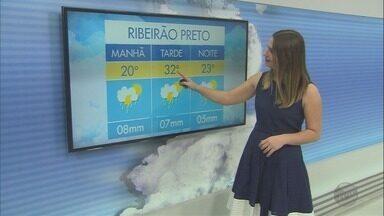 Previsão de chuva no sábado (25) e domingo (26) em Ribeirão Preto - Termômetros devem marcar até 32ºC.