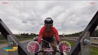 Paranaense bate recorde mundial de velocidade em cima de uma bicicleta - O desafio foi ontem (26) em São José dos Pinhais.