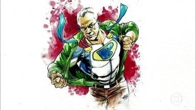 Ivan Reis explica desenho de Pedro Bial - Ele também fala de experiência nos bastidores do Lanterna Verde