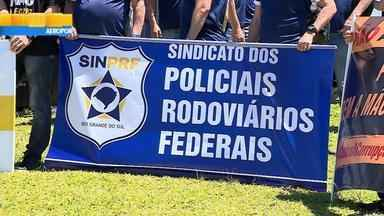Policiais realizam protesto em Porto Alegre - Assista ao vídeo.