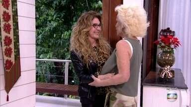 Ana Maria recebe Wanderléa na Casa de Cristal - Cantora comemora 54 anos de carreira com biografia e espetáculo musical