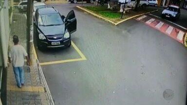 Funcionário de posto de combustíveis é assaltado na porta do banco em Areado (MG) - Funcionário de posto de combustíveis é assaltado na porta do banco em Areado (MG)