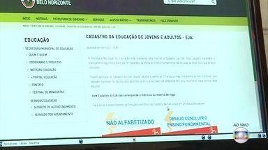 Adultos, idosos e jovens podem fazer o cadastro para a EJA em Belo Horizonte - O cadastro é feito pela internet até o dia 10 de dezembro.