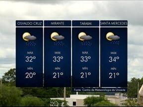 Nova frente fria mantém tempo instável na região de Presidente Prudente - Confira a previsão da meteorologia para esta terça-feira (28).