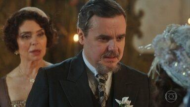Após casamento, Reinaldo se despede de Lucinda e Inácio - Reinaldo deseja felicidades ao casal