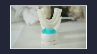Escova automática limpa os dentes em dez segundos - A escova robô é invenção de um engenheiro dos Estados Unidos. Produto foi lançada em um site de financiamento coletivo.
