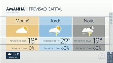 Confira a previsão do tempo para o domingo (03) em São Paulo - O domingo (03) será com previsão de pancadas de chuva a partir da tarde em São Paulo.