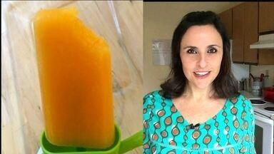 Veja a dica de picolé da nutricionista Cristina Menna Barreto - O picolé de mamão com laranja é uma maneira saudável de se refrescar no verão.