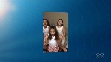 Trio de meninas anuncia intervalo do JA 1ª Edição - Vídeo foi enviado pelos canais de comunicação da TV Anhanguera.