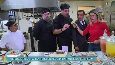 Rafa Brites se delicia com os quitutes da cozinha do Carioca Palace - Tudo na cozinha do hotel de 'Pega Pega' funciona de verdade, mas será que as comidas também são?