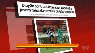 Atlético-GO contrata mais dois reforços para 2018 - Dragão acerta com lateral-esquerdo Bruno Santos e meia Irlan