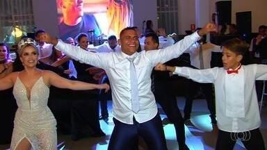 Walter se despede de Goiânia com casamento de gala - Veja os bastidores da festa do atacante