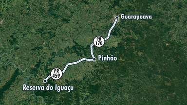 Bloqueios na PR-170 e PR-459 já duram 60 horas - A cidade de Pinhão chegou a ficar sem combustível nos postos e produtos nos supermercados.