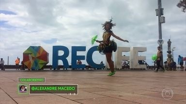 Veja coreografia colaborativa - Diferentes pessoas de várias regiões do Brasil colaboraram com a dança