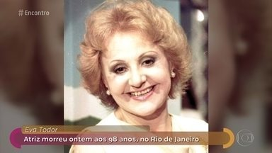Nicette Bruno presta última homenagem a Eva Todor do Rio de Janeiro - Eva Todor morreu aos 98 anos neste domingo