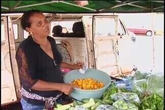 Devido à chuva, preço das hortaliças e verduras aumentou cerca de 300% em Ituiutaba - Constantes tempestades nas regiões prejudicaram a produção dos alimentos. Feirantes se preocupam com o aumento no preço e na baixa procura pelas mercadorias.
