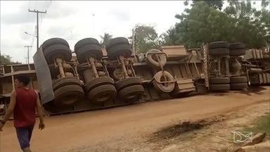 Acidente entre carreta e caminhão deixa um morto em Bela Vista - Também houve outro acidente na mesma rodovia, na região do Vale do Pindaré