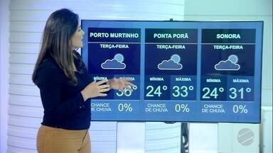 Veja a previsão do tempo para terça-feira (12) em MS - Veja a previsão do tempo para terça-feira (12) em MS.