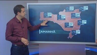 Veja como ficará o tempo em todas as regiões de SC nesta terça-feira (12) - Veja como ficará o tempo em todas as regiões de SC nesta terça-feira (12)