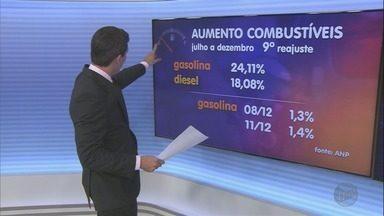 Petrobras anuncia outro reajuste no preço dos combustíveis e surpreende motoristas - De julho para cá é o nono aumento. Nos últimos cinco meses, a gasolina subiu 24,11%, e o diesel 18,08 %.