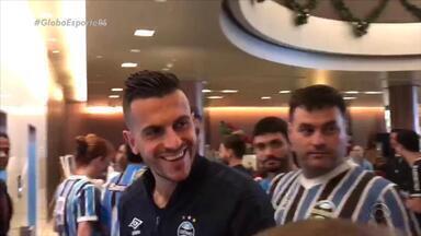 Diogo Olivier mostra momento de entusiasmo da torcida com Marcelo Grohe - Assista ao vídeo.