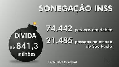Receita Federal faz operação para regularizar devedores do INSS - No Estado de São Paulo, são mais de 20 mil pessoas que precisam acertar suas contas com a previdência.