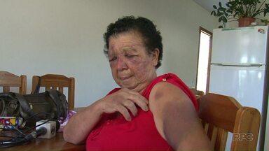 Idosa de 73 anos é agredida durante assalto - Vítima foi feita refém por mais de 3 horas. Assaltante foi preso tentando vender o carro roubado