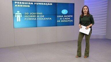 ES tem maior percentual de mortes por armas de fogo entre menores de 19 anos no Brasil - Informação é de estudo sobre o cenário da infância e adolescência no país. Em média, ocorrem 30 assassinatos de jovens e crianças por dia, sendo a maioria negros e pobres, no Brasil.