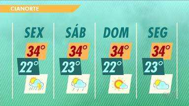 Continua o calor em toda região Noroeste - Sexta-feira pode ter pancadas de chuva