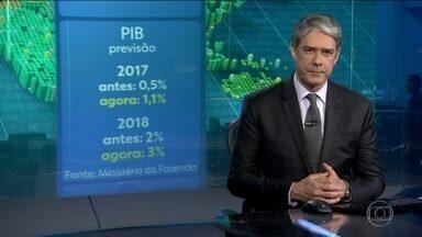 Governo revê previsão de crescimento da economia em 2017 e 2018 - Projeção de crescimento de 2017 passou de 0,5% para 1,1% e a de 2017 de 2% para 3%.