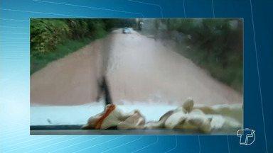 Chuva causa transtornos em vários bairros de Santarém - Telespectadores registram os estragos deixados pela chuva que caiu durante esta quinta-feira (14).