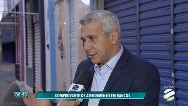 Procon de MS flagra irregularidades em agências bancárias - Segundo o Procon, uma agência de São Gabriel do Oeste não estava entregando os comprovantes do tempo final de atendimento.