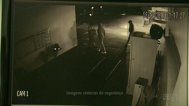 Tentativa de assalto a posto de combustível é registrada em Cascavel - As câmeras de segurança flagraram a ação dos bandidos.