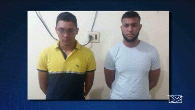 Polícia investiga tentativa de fraude em concurso da Polícia Militar do MA - Dois homens foram presos em Caxias usando celulares para receber as respostas das questões.
