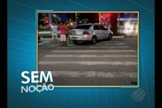 'Sem Noção' flagra carro estacionado em uma faixa de pedestres - Flagrante aconteceu na avenida Doca de Souza Franco em Belém.