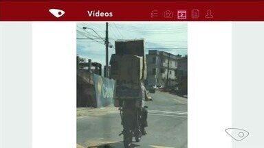 VC no ESTV: imprudências no trânsito são flagradas por motoristas - Vídeos foram enviados pelo aplicativo da TV Gazeta.