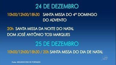 Programação especial de Natal na Catedral Metropolitana de Fortaleza - Saiba mais em g1.com.br/ce