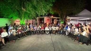 RJTV homenageia Arlindo Cruz - Festa reuniu sambistas no Cacique de Ramos e a família do compositor