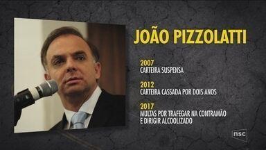 Pizzolatti somou 222 pontos na CNH em quatro anos - Pizzolatti somou 222 pontos na CNH em quatro anos