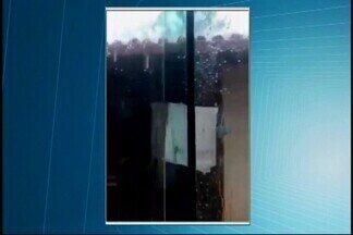 Chuva de granizo é registrada em Nova Serrana - De acordo com o Corpo de Bombeiros, tempestade durou cerca de 40 minutos. Duas ocorrências de queda de árvore foram registradas; ninguém se feriu.